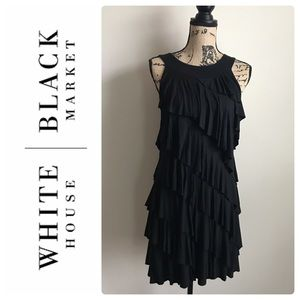 White House Black Market Ruffle Dress